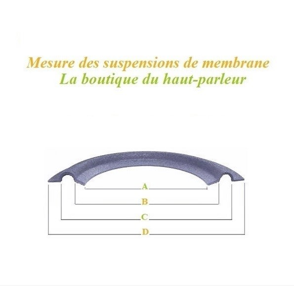 dimensions suspensions haut-parleur  foam surround kit